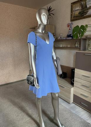 Платье в рубчик василькового оттенка f&f