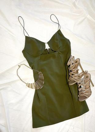 Платье цвета хаки topshop 💚