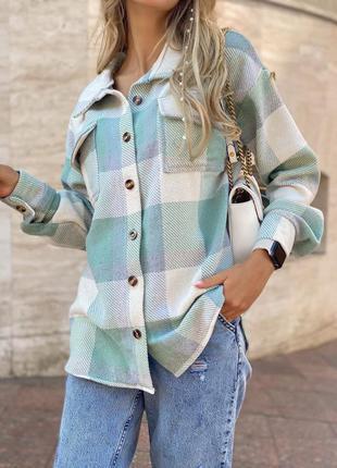 Тёплая рубашка в актуальных цветах 🤍 кашемир