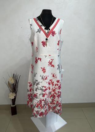 Платье klass collection 42eur 16uk лен вискоза xl-xxl