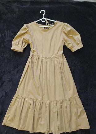 Актуальное платье  с воланами  рукава  фонарики