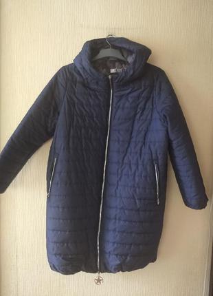 Чудова куртка пальто кокон батал