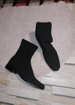 Ботинки чулок ботинки кожа сапоги чулки шкіра черевики