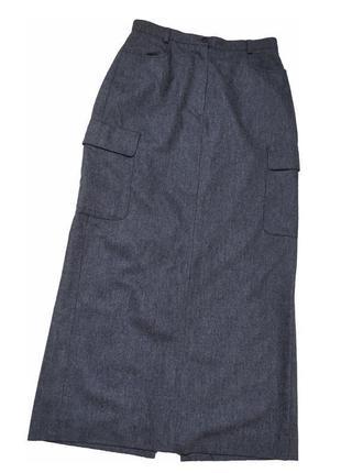 Шерстяная длиная юбка marc aurel германия /3479/
