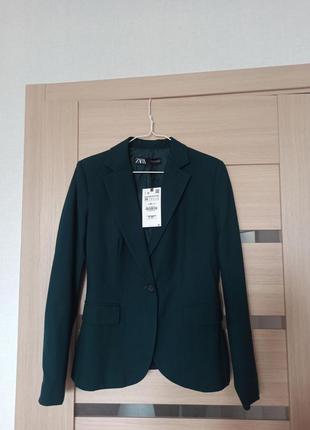 Пиджак жакет зеленый bottle green zara зара