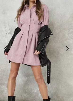 Вельветовое платье английского бренда missguided