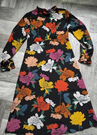 Плаття шифон в квітковий принт