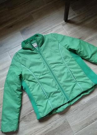 Весенняя осенняя куртка зелёная большой размер xl