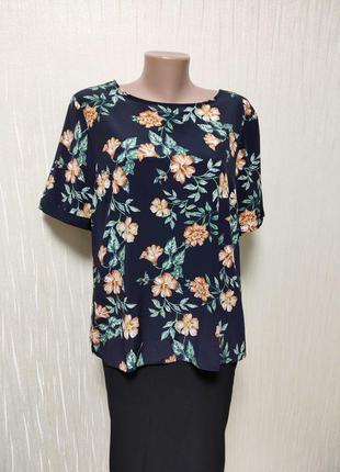 Женская блуза кофточка с цветами блузка футболка