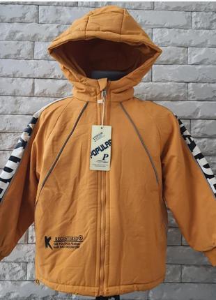 Демисезонная куртка парка для мальчика от 1 до 5 лет