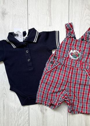 Распродажа! комплект набор комбинезон и бодик для мальчика младенца jasper conran англия