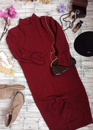 Платье свитер длинное тёплое осень зима шерсть m италия