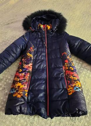 Куртка демі на дівчинку 8-9 років