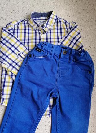 Очень красивый комплект рубашка + джинсы для маленького модника