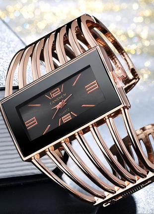 Женские часы-браслет цвет розовое золото код 485