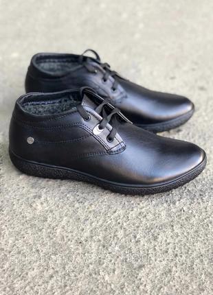 Кожаные ботинки (дезерты) на осень зиму