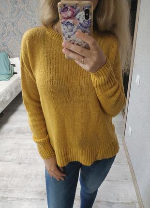 Теплый красивый базовый свитер