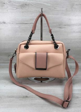 Женская сумка пудровая сумка среднего размера пудровый клатч кроссбоди через плечо