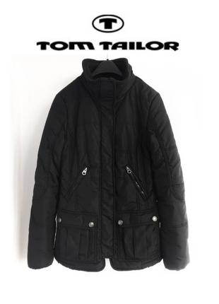 Черная куртка tom tailor оригинал осенняя курточка деми демисезонная куртка