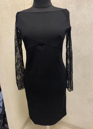 Класичне плаття футляр, гіпюровий рукав, італія