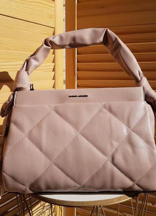 Новинка женская пудровая сумка через плечо кроссбоди david jones original 6661-2