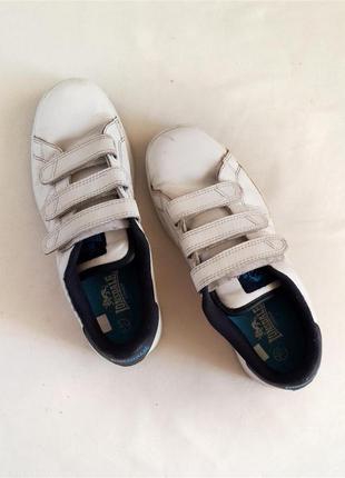 Кроссовки на липучках кожаные lonsdale