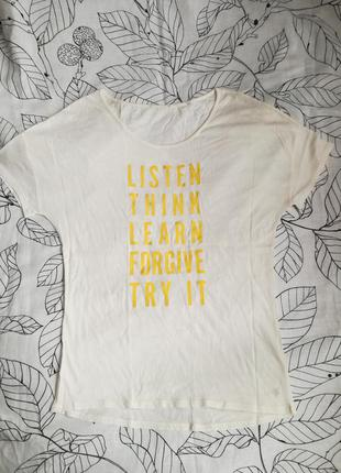 Хлопковая молочная  футболка marc o polo