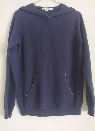 Boden кашемировый свитер худи толстовка с капюшоном.
