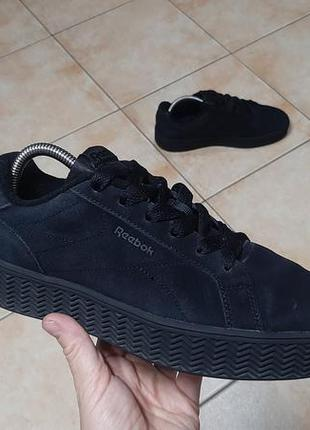 Замшевые кроссовки,ботинки reebok (рибок) royal complete clean
