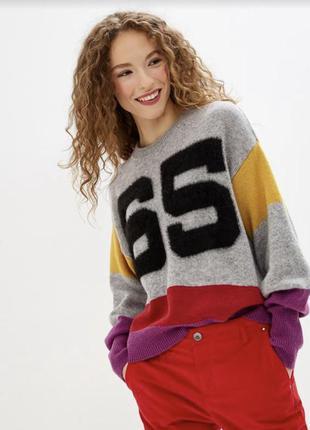 Шерстяной свитер джемпер оверсайз