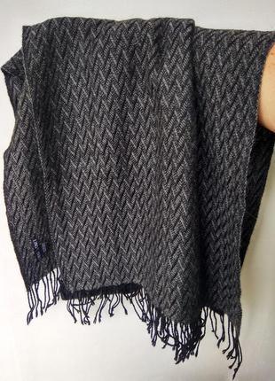 Мужской натуральный шарф royal knit , 100% baby alpaca