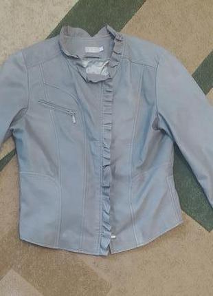 Шкіряна натуральная кожанная куртка курточка косуха кожанка піджак жакет м размер