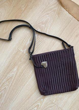 Нова!німецька фірмова сумка emily&noah🍆кросбоді/кроссбоди брендовая  цвета баклажан,германия