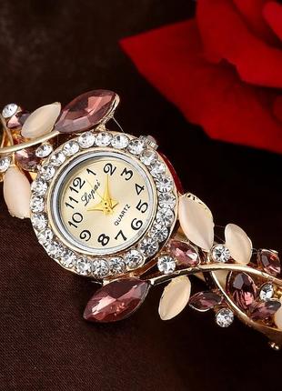 Часы-браслет наручные женские с кристаллами код 625