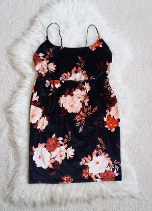 Велюровое бархатное платье-сарафан