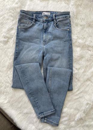 Новые джинсы zara высокая посадка