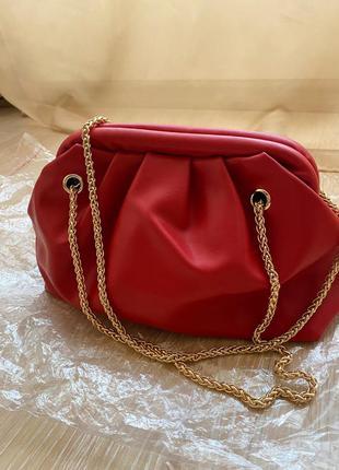 Нова!червона сумка-пельмень,тренд♥️ красная сумочка