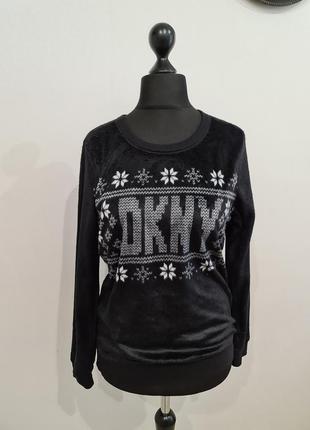 Черная кофта свитер dkny