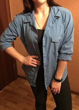 Стильная рубашка marks & spencer