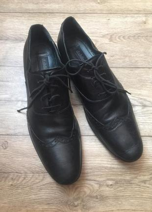 Кожаные туфли шведского бренда dahlin,44 р!супер цена!