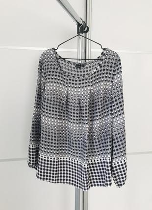 Блуза, легкая блуза, красивая блуза в принт.