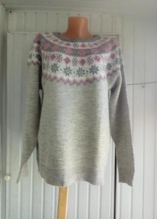 Брендовый мягенький свитер джемпер большой размер батал