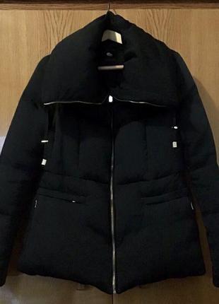 Куртка пуховик с объёмным воротником, zara
