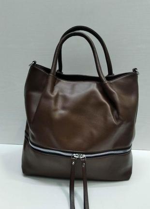 Женская сумка (коричневая) 21-09-028