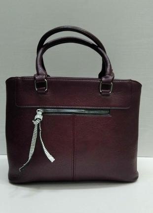 Женская сумка (бордовая) 21-09-029