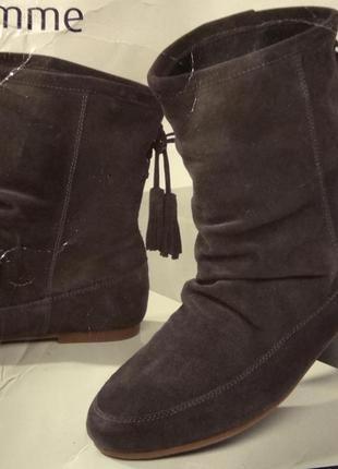 Сапожки, сапоги, ботинки, натуральная замша