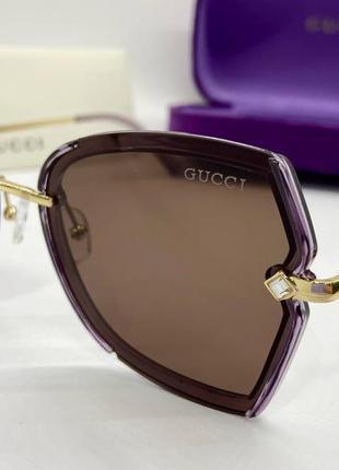 Женские элегантные солнцезащитные очки с тонкими дужками металл поляризованные
