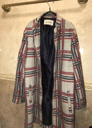 Пальто з клітчастим принтом
