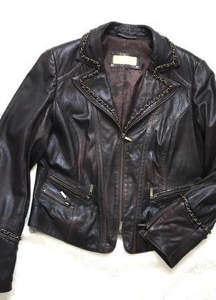 Кожаный пиджак куртка мягкая нат.кожа