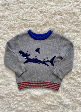 Свитерок с акулой, свитер, джемпер, батник